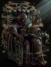 Картинка Чудовище Трон Сидящие