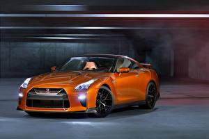 Обои Ниссан Оранжевый Металлик 2017 GT-R Авто
