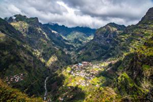 Фотография Португалия Горы Каньон Madeira Curral das Freias Природа