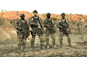 Обои Солдаты Автоматы Маскировка 4 KSK Kommando Spezialkräfte