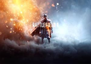 Картинки Солдаты Battlefield 1 Дым Игры