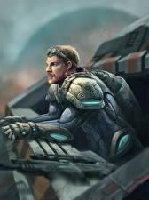 Картинки StarCraft 2 Мужчины Воины Игры Фэнтези