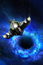 Картинка Космолет Черная дыра