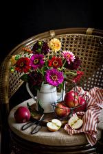 Картинка Натюрморт Майоры Яблоки Цветы