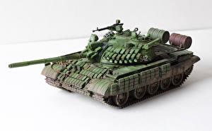 Картинка Танки Игрушки Российские Белый фон T-55 AMV