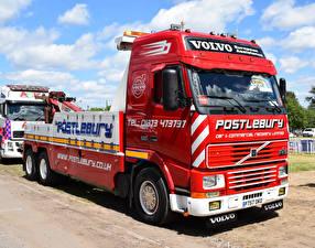 Фотография Volvo Грузовики Красный FH16 Globetrotter Recovery Lorry P757 OKO Машины
