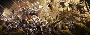 Картинки Warhammer 40000 Воины Сражения Stormcast Vs Nurgle Игры Фэнтези