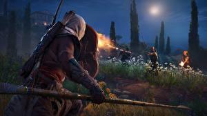 Фотографии Воины Assassin's Creed Origins Ночные Копья Игры 3D_Графика
