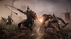Картинка Воители Сражения Assassin's Creed Origins Игры 3D_Графика