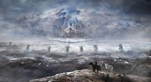 Картинка Воители Крепость Зима Скала