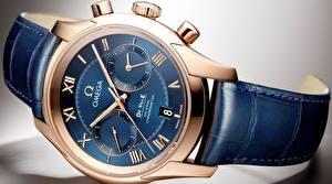 Картинки Часы Наручные часы Вблизи Циферблат omega, de ville