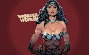 Фотографии Чудо-женщина герой Герои комиксов Смотрит Девушки
