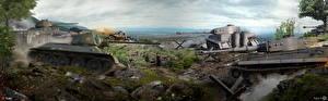 Фото WOT Танки Т-34 Tiger I компьютерная игра