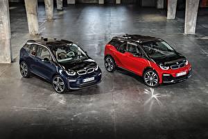 Обои для рабочего стола BMW Вдвоем Металлик 2017 i3 автомобиль