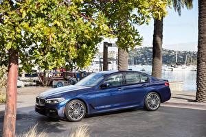 Фото BMW Металлик Синий 2018 540i Sedan M Sport машины
