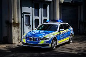 Обои BMW Тюнинг Полицейские 2017 530d xDrive Touring Polizei машина