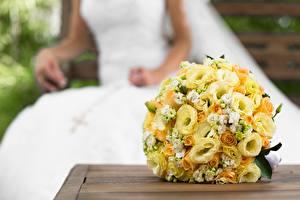 Фотографии Букеты Свадьба Желтый