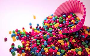 Обои Конфеты Разноцветные Пища
