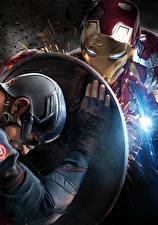 Фотографии Первый мститель: Противостояние Капитан Америка герой Железный человек герой Щит Steve Rogers Фильмы Знаменитости