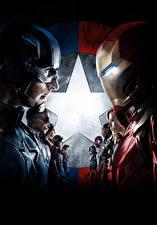 Фото Первый мститель: Противостояние Железный человек герой Капитан Америка герой Герои комиксов Steve Rogers Кино Знаменитости