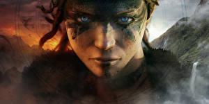 Обои Крупным планом Hellblade: Senua's Sacrifice Лицо Смотрит Игры