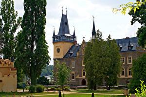 Фотография Чехия Замки Дерево Castle Zruc nad Sazavou