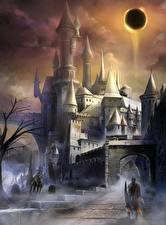 Картинка Dark Souls Замки Воины 3 Фэнтези