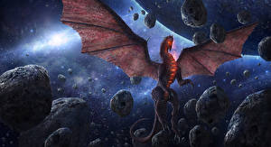 Фотография Драконы Камень Крылья Chris Fox, Planet Strider Космос
