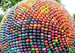 Обои Пасха Праздники Яйца Разноцветные