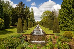 Фотографии Англия Сады Водопады Дизайн Кусты Thenford House garden Природа