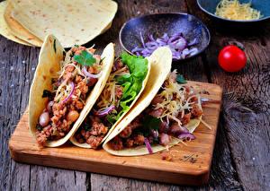 Картинка Быстрое питание Овощи Доски Разделочная доска tacos