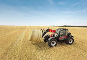 Картинки Поля Сельскохозяйственная техника Сено 2014-17 Case IH Farmlift 742