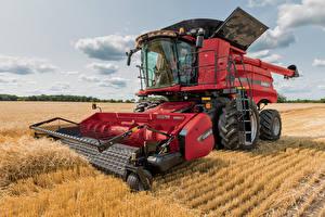 Картинки Поля Сельскохозяйственная техника Зерноуборочный комбайн 2015–17 Case IH Axial-Flow 8240
