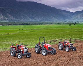 Фотографии Поля Сельскохозяйственная техника Трактор Втроем Massey Ferguson 2635M Massey Ferguson 9000
