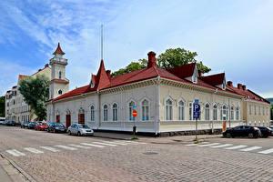 Картинки Финляндия Дома Улиц Kotka Города