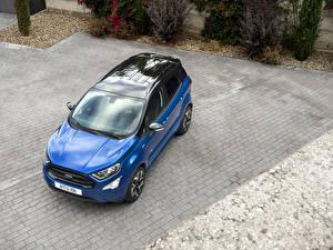 Фото Форд Металлик Сверху Синий 2017 EcoSport ST-Line Авто