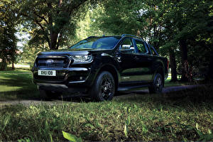 Картинки Ford Черные Металлик 2017 Ranger Limited Black Edition Double Cab Worldwide Автомобили