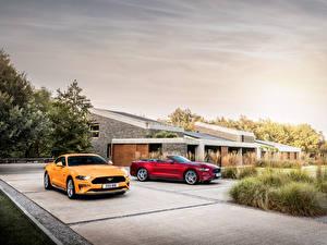 Обои Форд 2 Mustang GT Fastback Mustang EcoBoost Convertible Авто