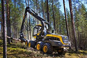 Картинка Леса Деревья 2014-17 Ponsse Scorpion Harvester