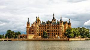Обои Германия Замки Schwerin Castle Города