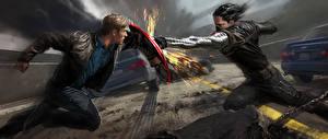 Обои Герои комиксов Первый мститель: Другая война Дерется 2