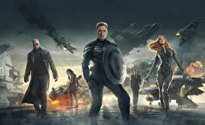 Фотография Супергерои Капитан Америка герой Chris Evans Первый мститель: Другая война С щитом Steve Rogers Фильмы Знаменитости Девушки