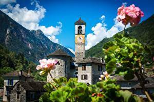 Фотография Здания Церковь Швейцария Lavertezzo Kirche, Canton of Ticino