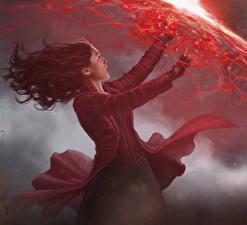 Картинки Волшебство Первый мститель: Противостояние Фильмы Девушки