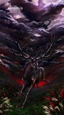 Картинки Волшебные животные Олени Рога