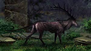 Фотография Волшебные животные Олени Рога