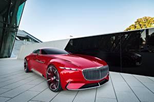 Фото Mercedes-Benz Красный Металлик Concept, Vision Машины