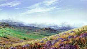 Картинка Рисованные Поля Boundless stepp