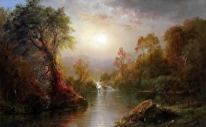 Картинка Картина Осенние Frederic Edwin Church, Autumn