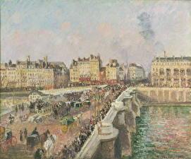 Фотография Живопись Франция Мосты Париж Camille Pissarro. Afternoon Sunshine, Pont Neuf
